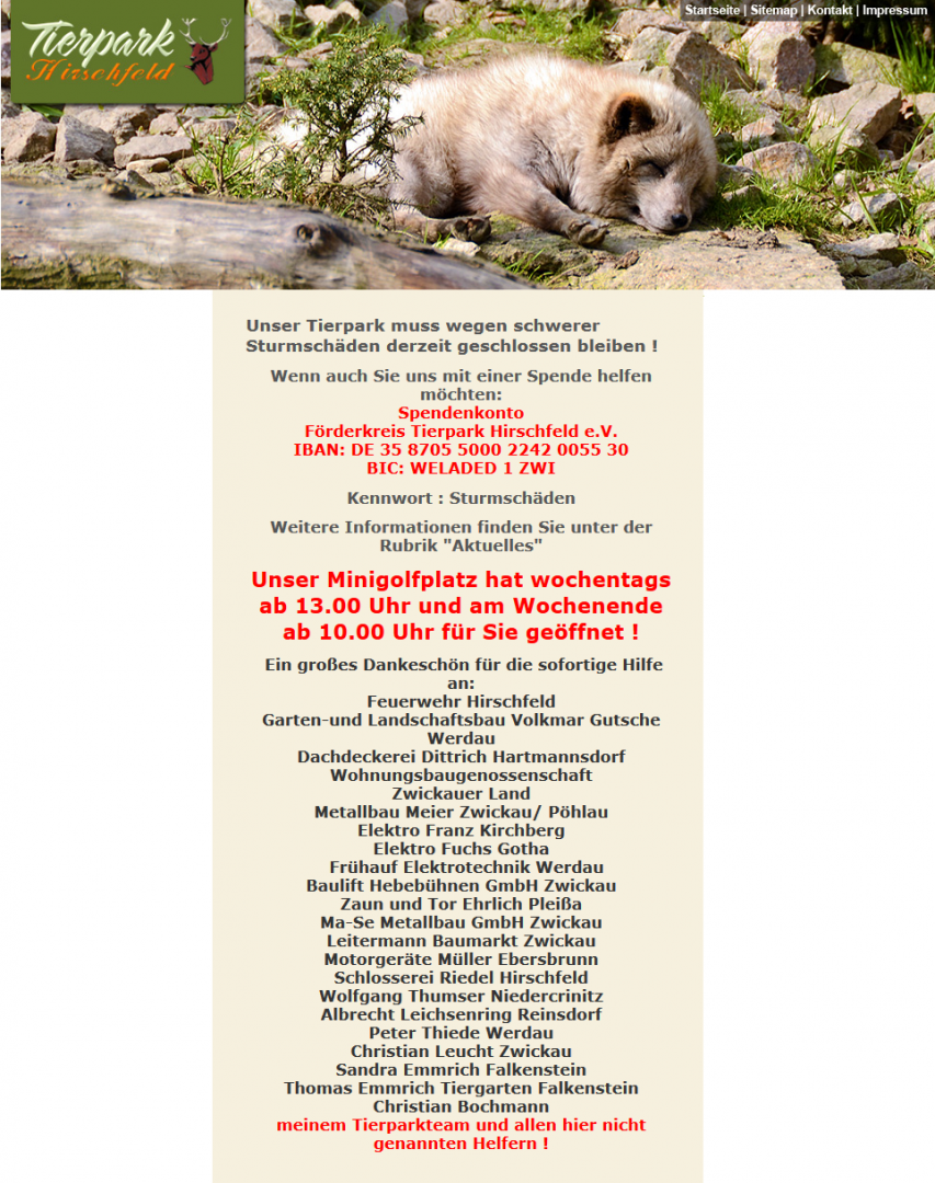 Spendenaufruf Zaun Tor Gmbh